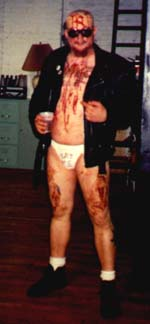 Mike dressed up for Halloween, I'm guessing he's supposed to be your favorite shit eating hero....GG Allin!!